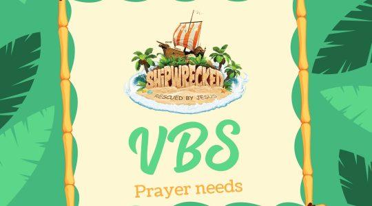 VBS Prayer Calendar July 8-14